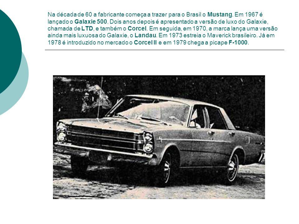 Na década de 60 a fabricante começa a trazer para o Brasil o Mustang