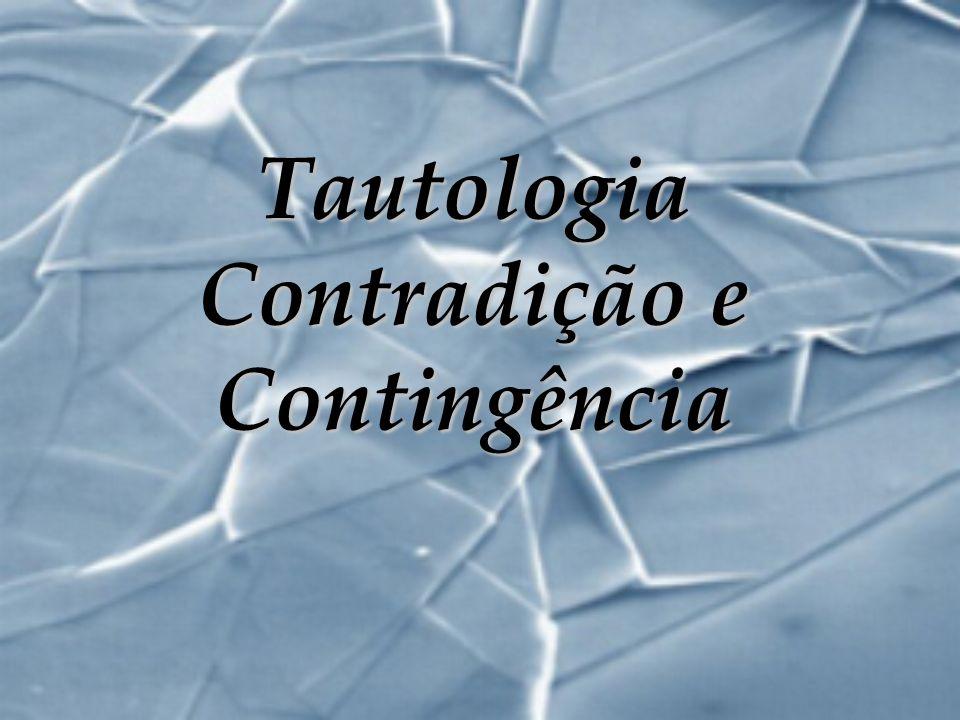 Tautologia Contradição e Contingência