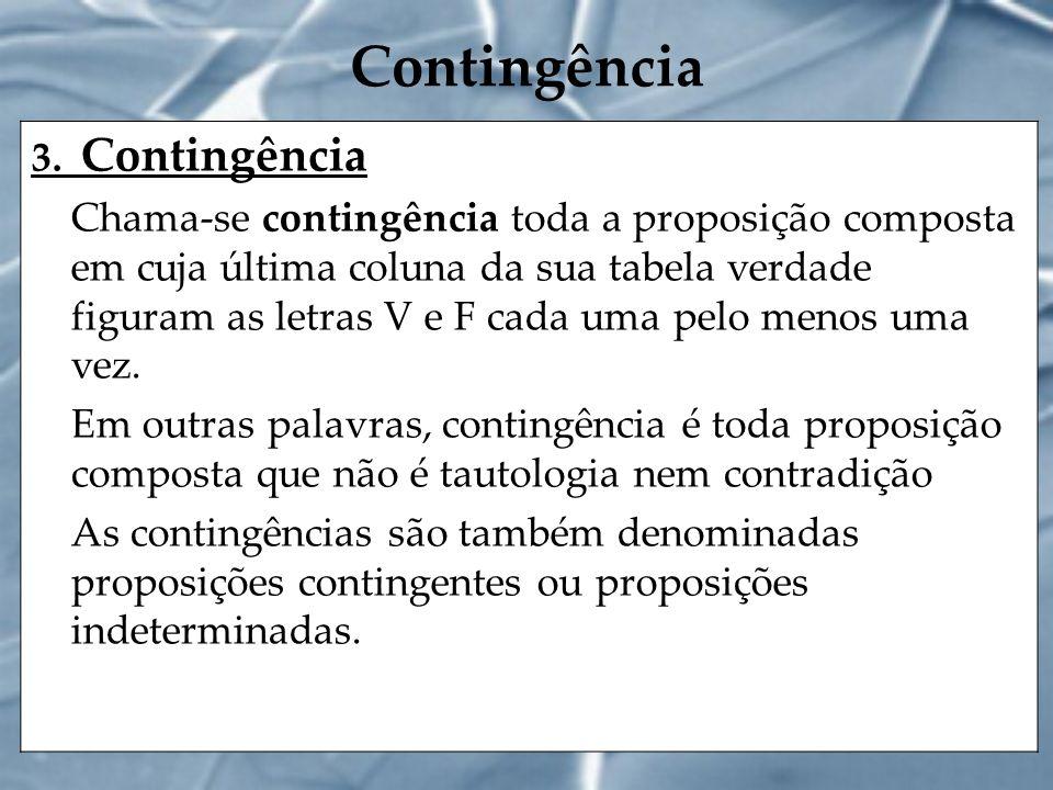 Contingência 3. Contingência