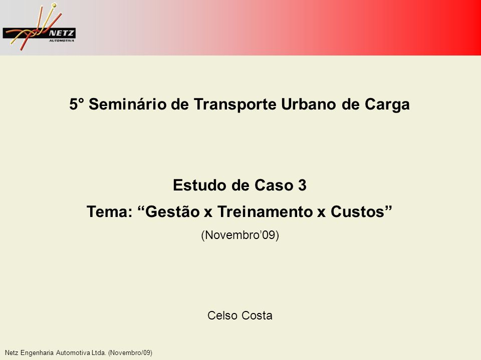 5° Seminário de Transporte Urbano de Carga