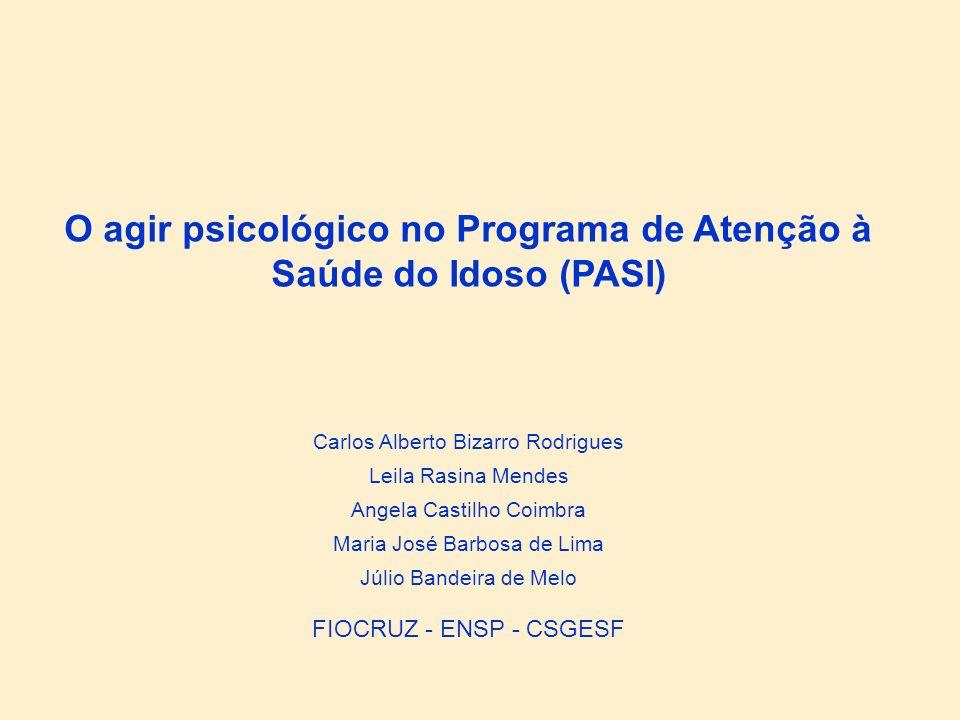 O agir psicológico no Programa de Atenção à Saúde do Idoso (PASI)