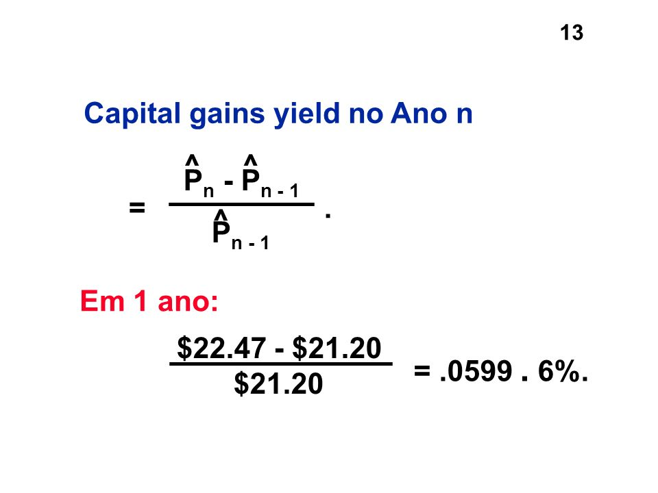 Capital gains yield no Ano n