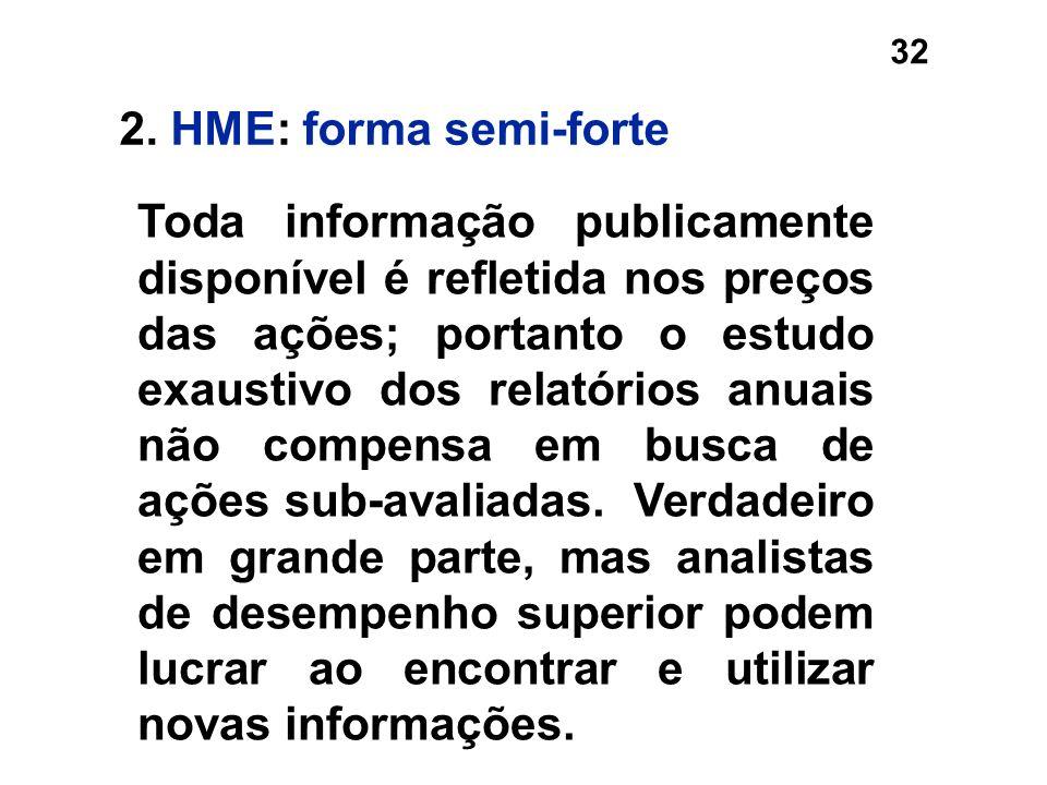 2. HME: forma semi-forte