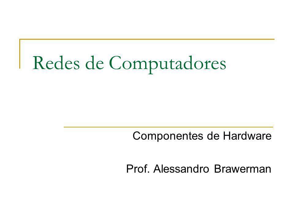 Componentes de Hardware Prof. Alessandro Brawerman