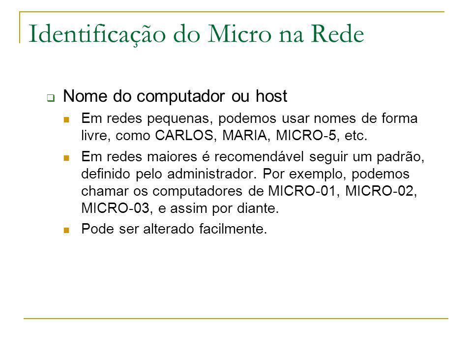Identificação do Micro na Rede