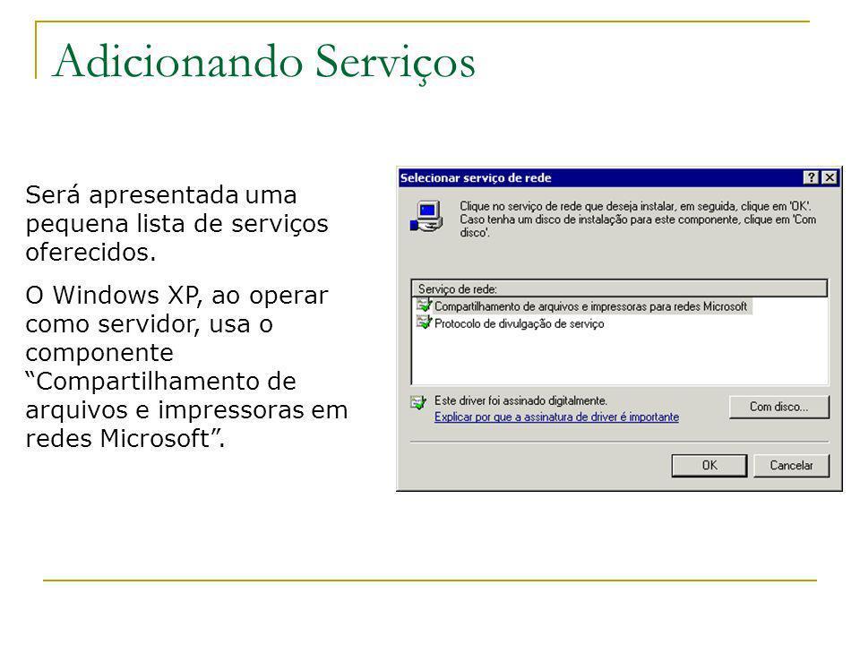Adicionando ServiçosSerá apresentada uma pequena lista de serviços oferecidos.