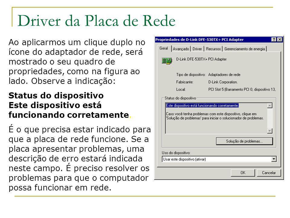 Driver da Placa de Rede