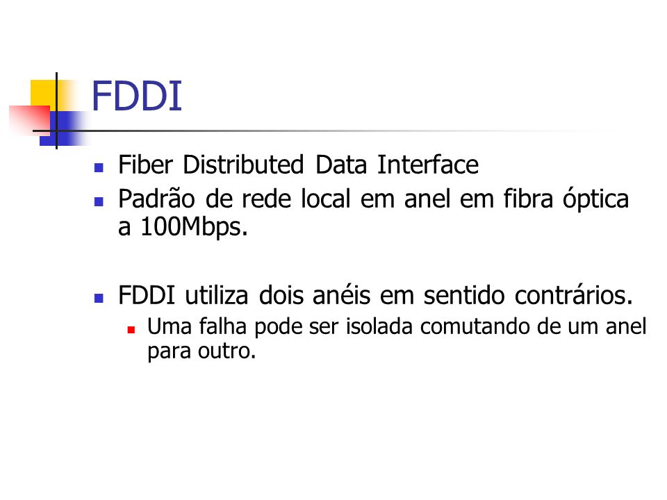 FDDI Fiber Distributed Data Interface