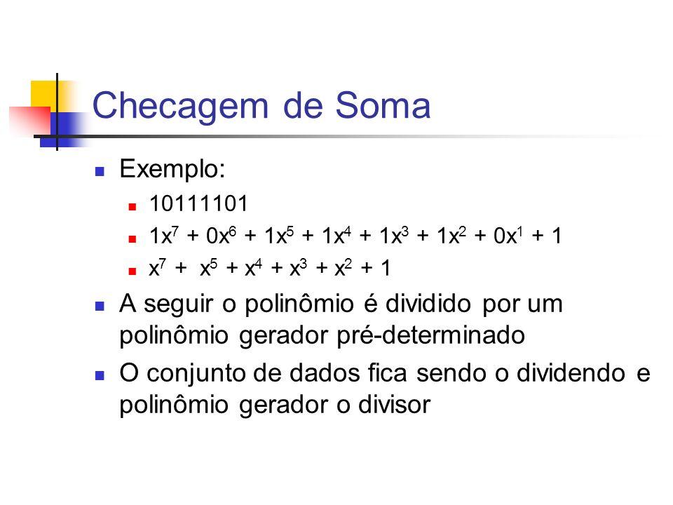 Checagem de Soma Exemplo: