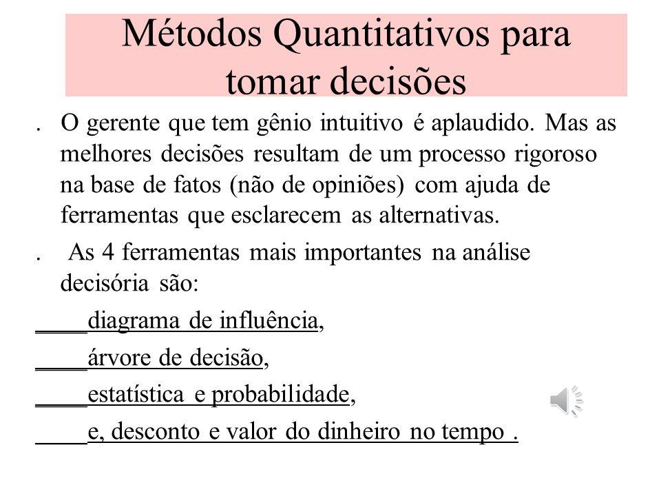 Métodos Quantitativos para tomar decisões