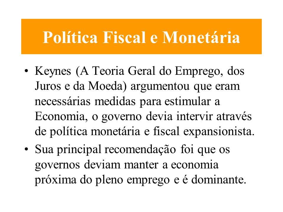 Política Fiscal e Monetária