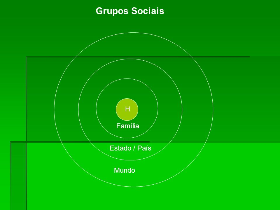 Grupos Sociais H Família Estado / País Mundo