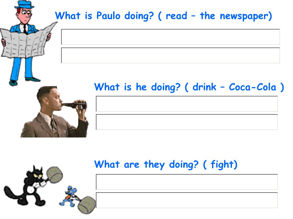 What is Paulo doing ( read – the newspaper)