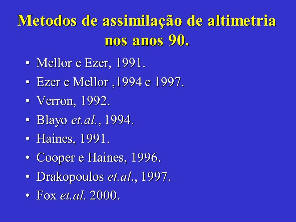 Metodos de assimilação de altimetria nos anos 90.