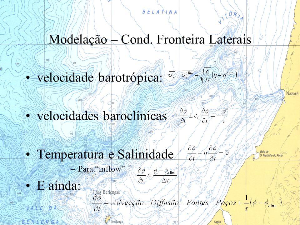 Modelação – Cond. Fronteira Laterais