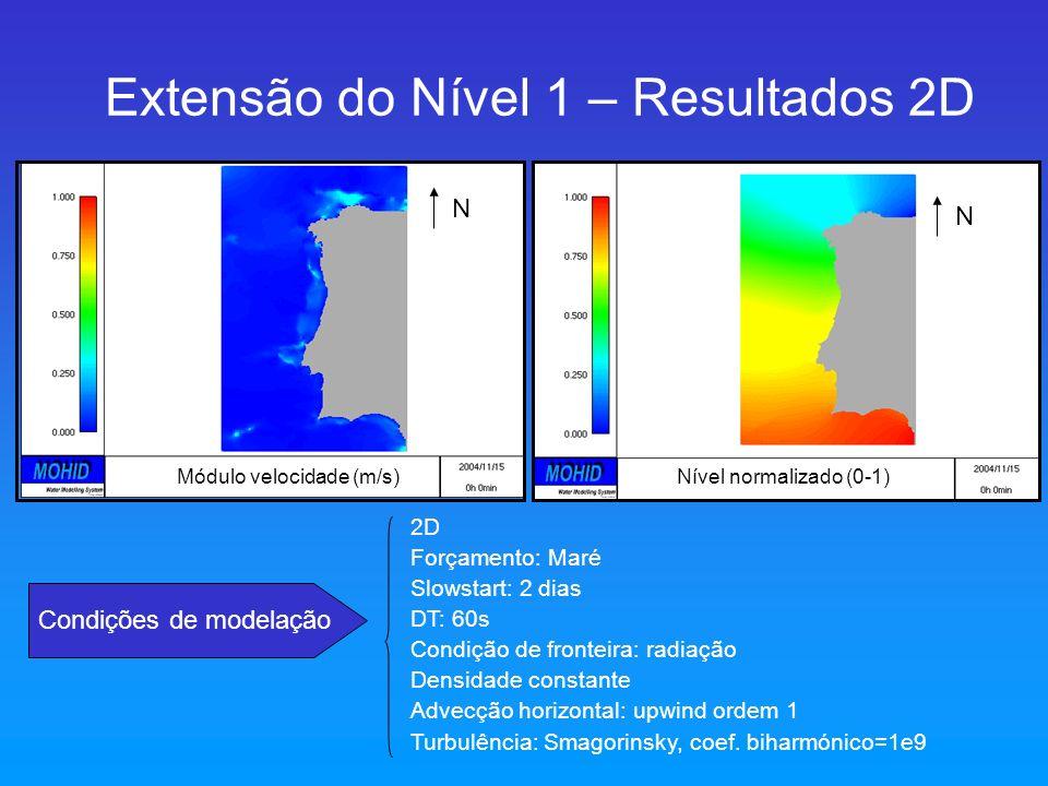 Extensão do Nível 1 – Resultados 2D