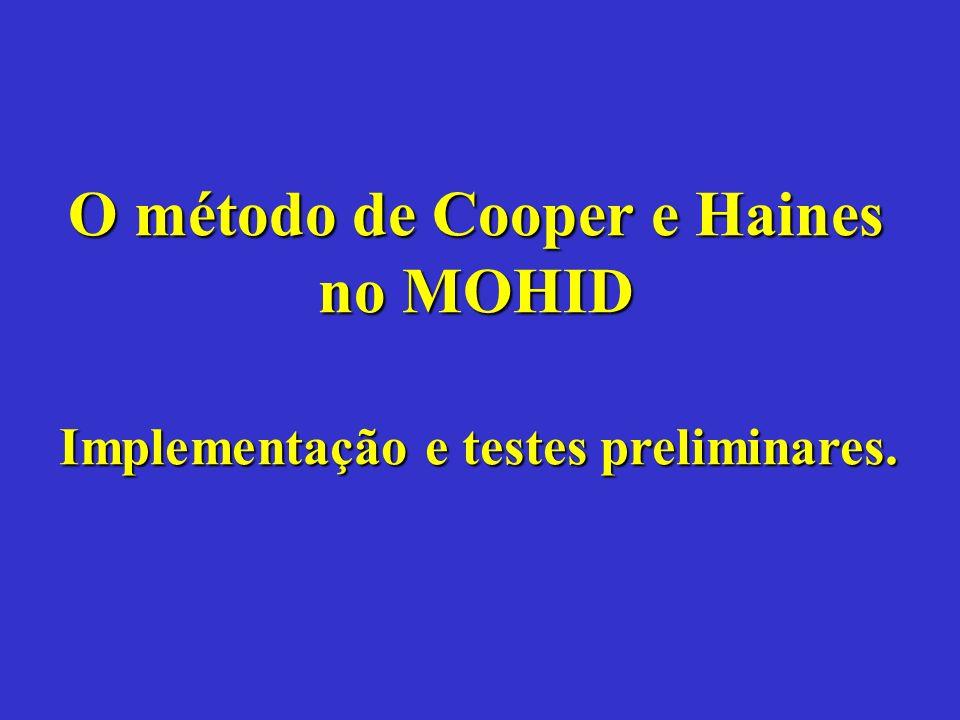 O método de Cooper e Haines no MOHID