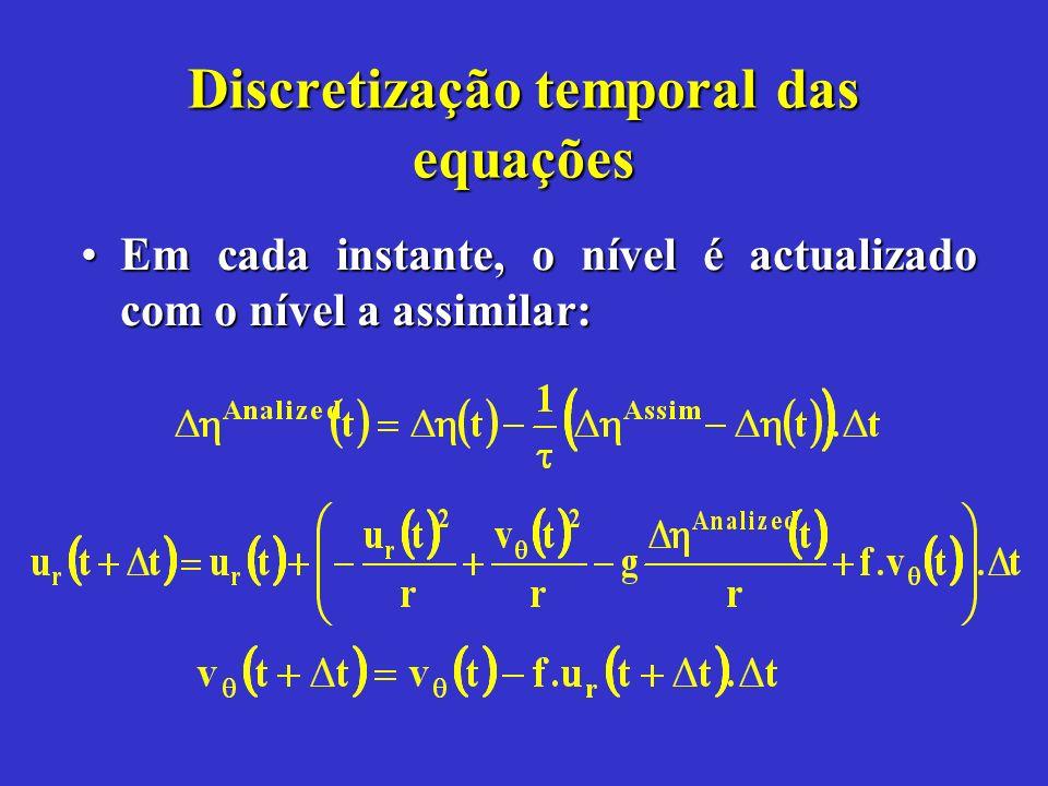 Discretização temporal das equações