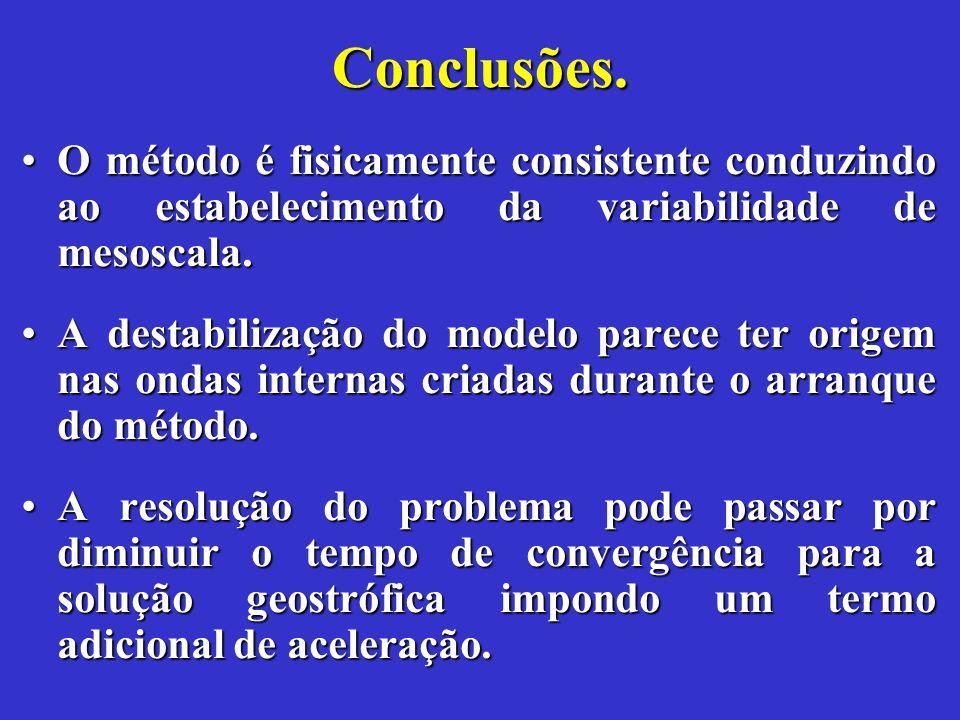 Conclusões.O método é fisicamente consistente conduzindo ao estabelecimento da variabilidade de mesoscala.