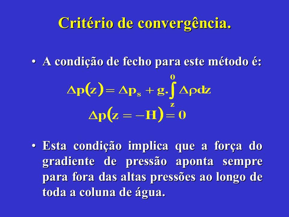 Critério de convergência.