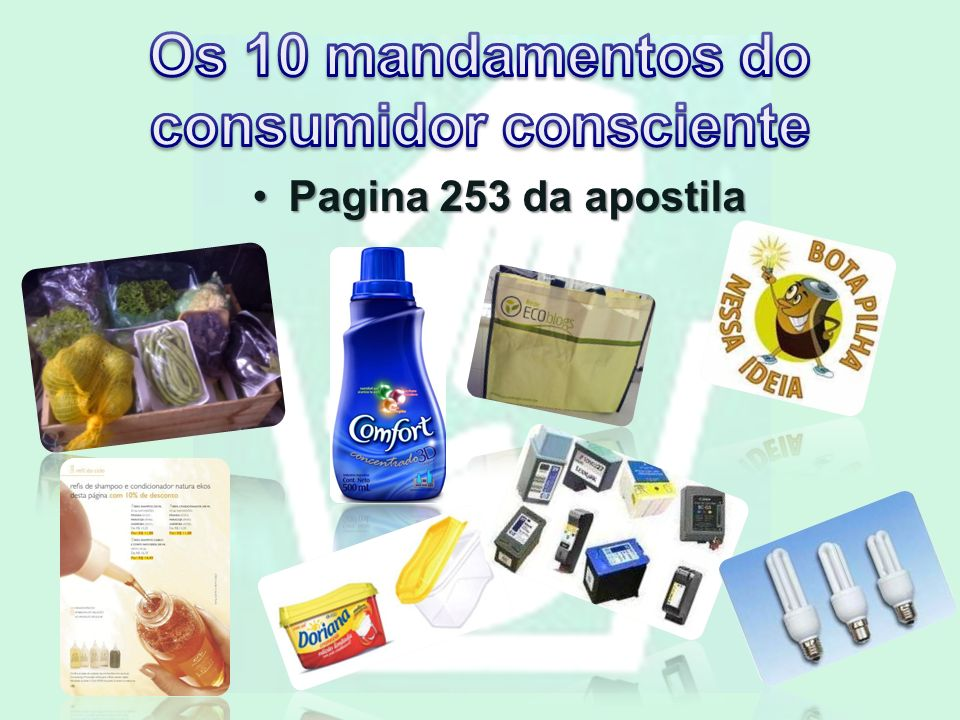 Os 10 mandamentos do consumidor consciente