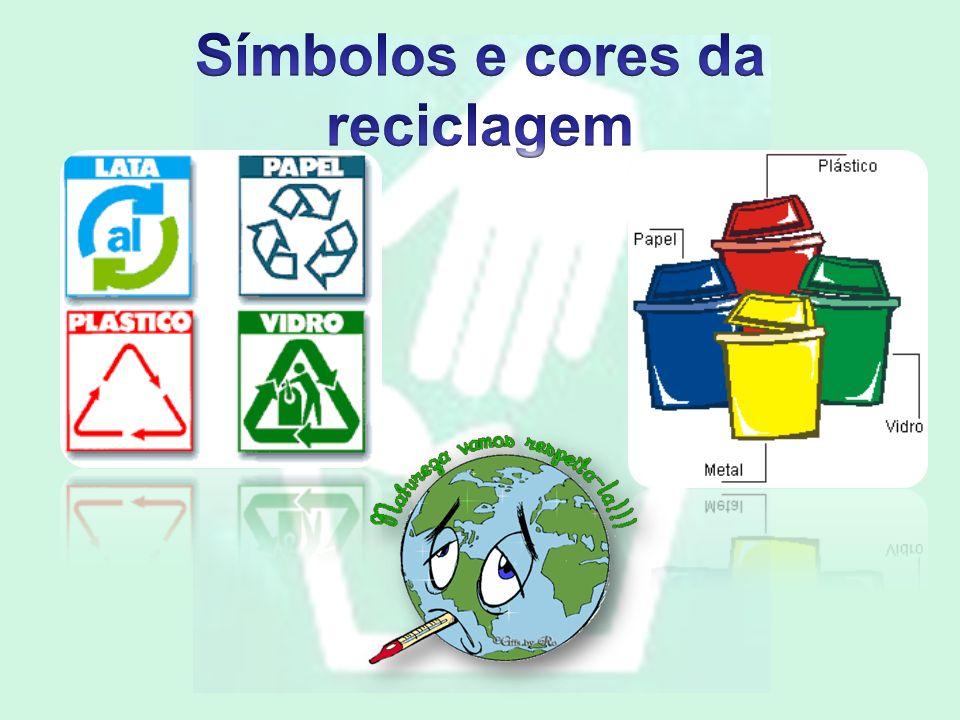 Símbolos e cores da reciclagem