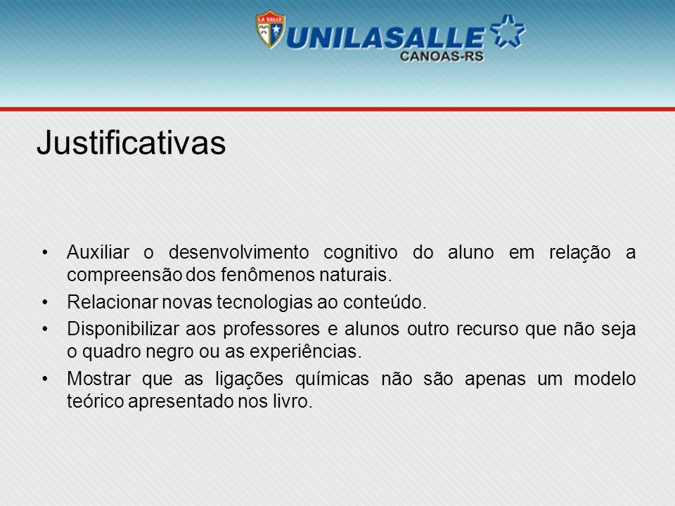 Justificativas Auxiliar o desenvolvimento cognitivo do aluno em relação a compreensão dos fenômenos naturais.