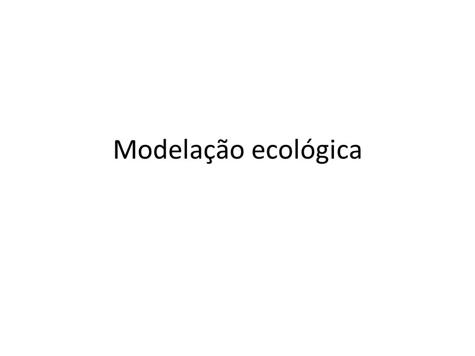 Modelação ecológica