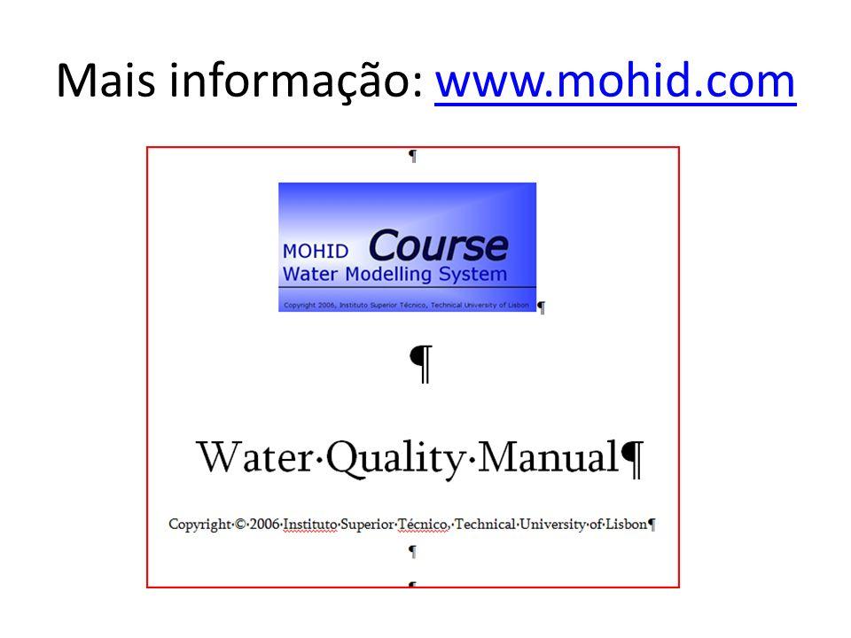 Mais informação: www.mohid.com