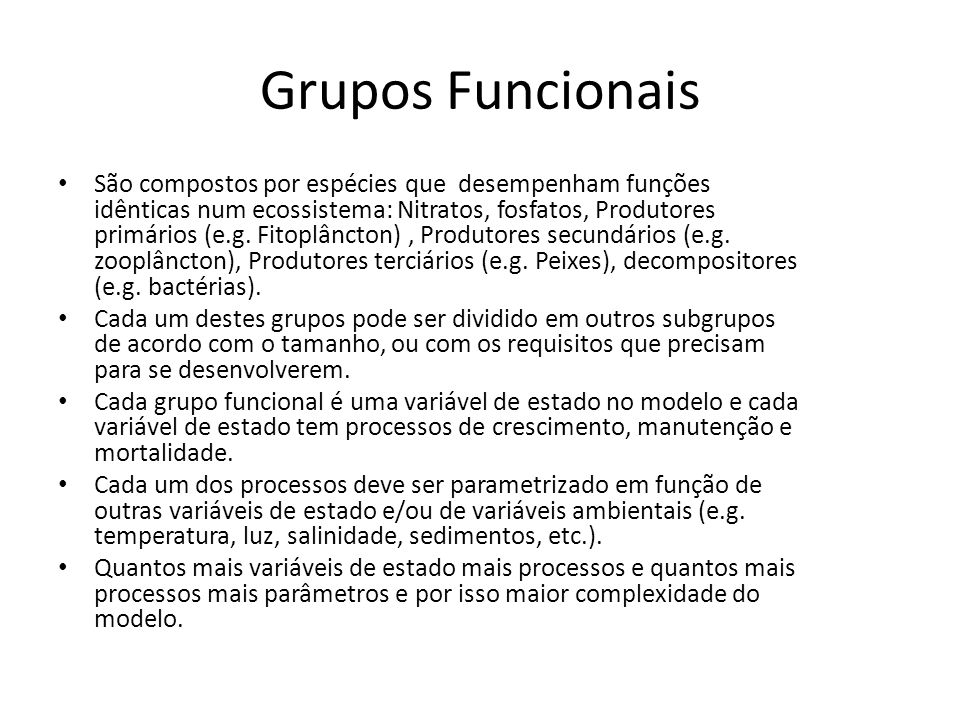 Grupos Funcionais