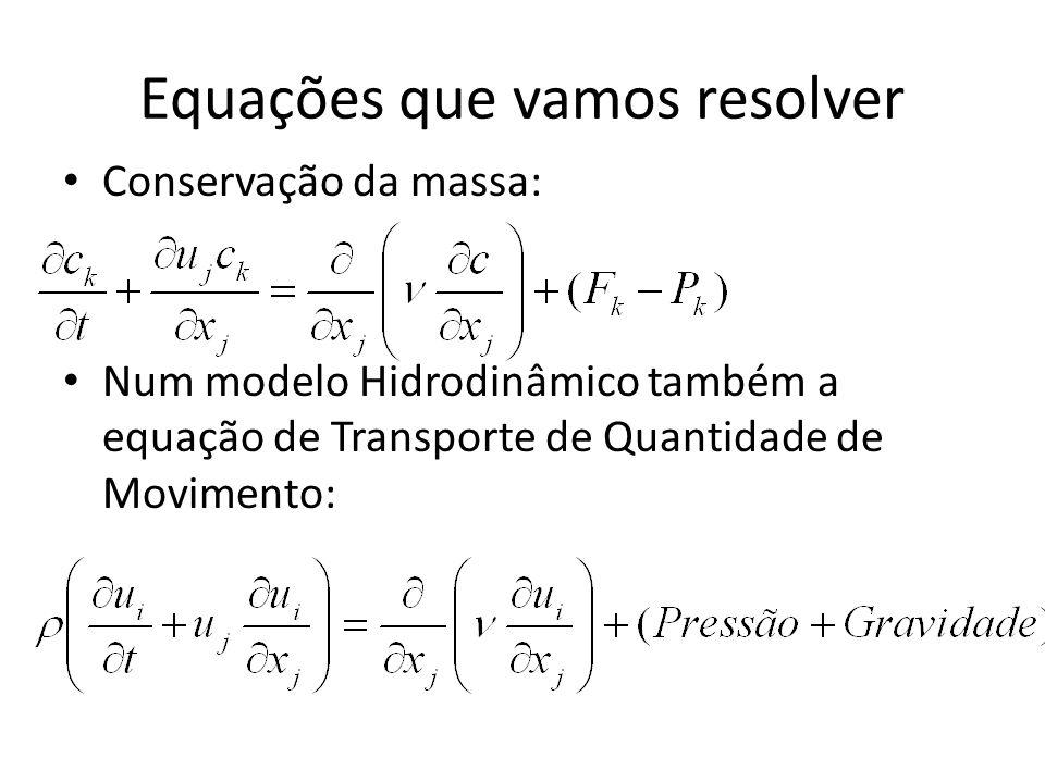 Equações que vamos resolver