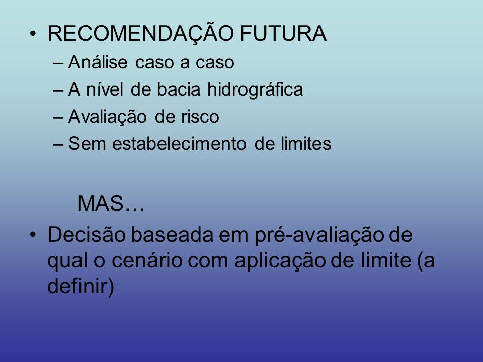 RECOMENDAÇÃO FUTURA MAS…
