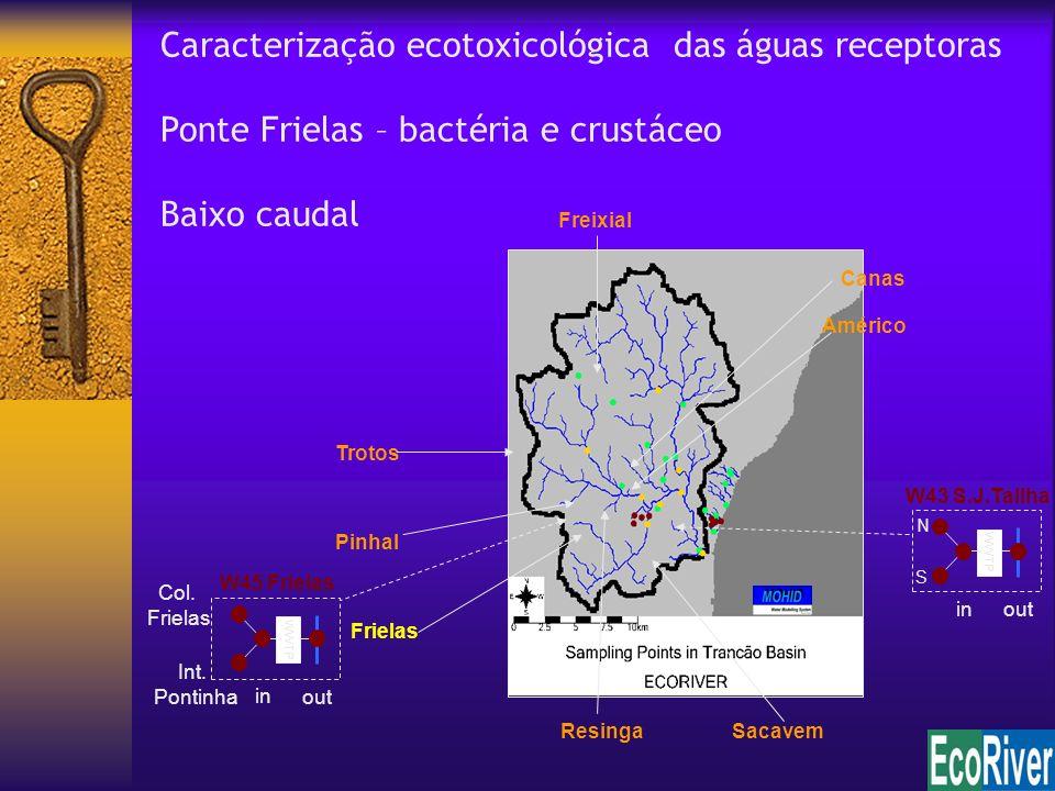 Caracterização ecotoxicológica das águas receptoras