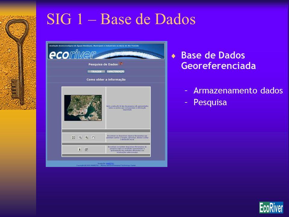 SIG 1 – Base de Dados Base de Dados Georeferenciada