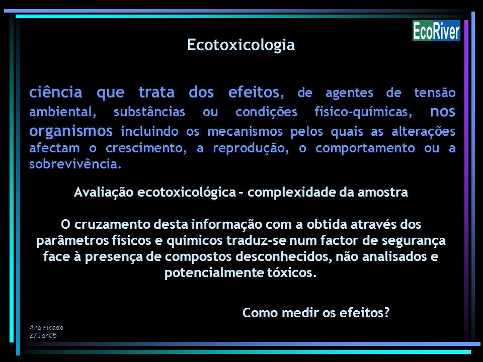 Avaliação ecotoxicológica - complexidade da amostra