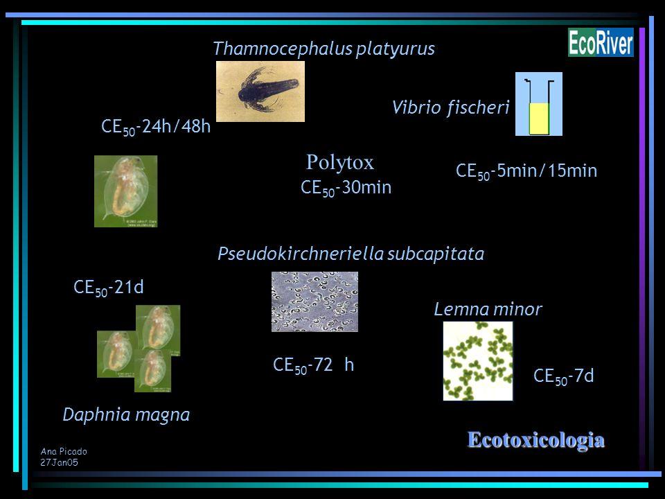 Polytox Ecotoxicologia Thamnocephalus platyurus Vibrio fischeri