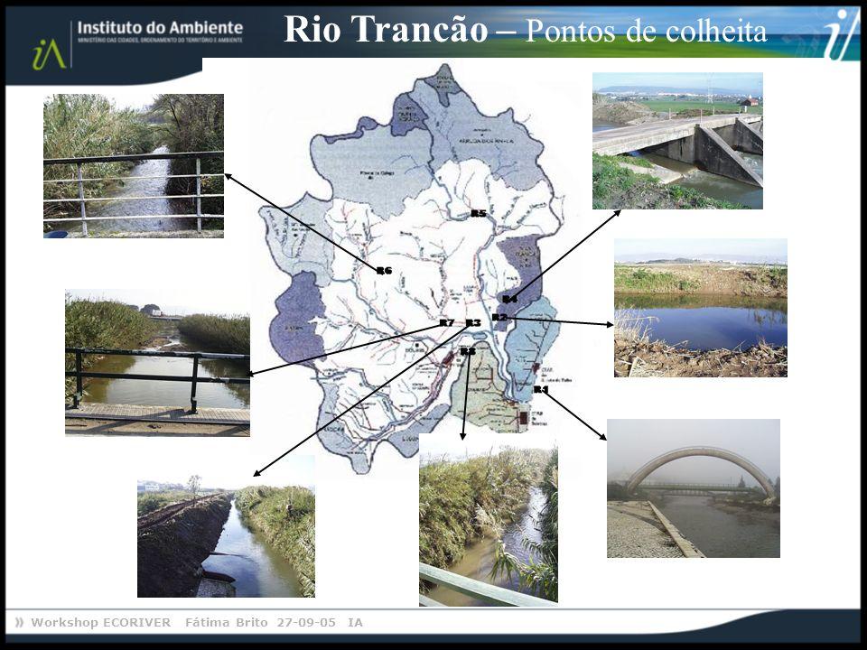 Rio Trancão – Pontos de colheita