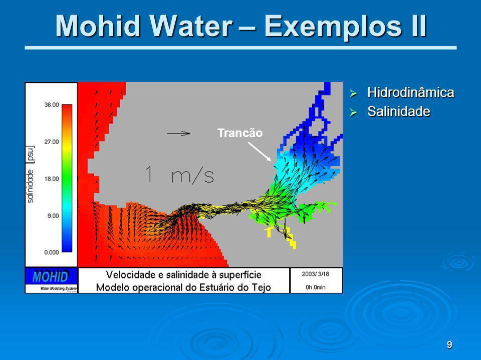 Mohid Water – Exemplos II