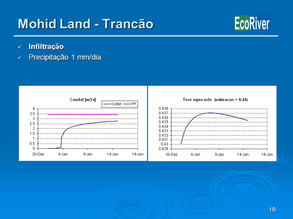 Mohid Land - Trancão Infiltração Precipitação 1 mm/dia