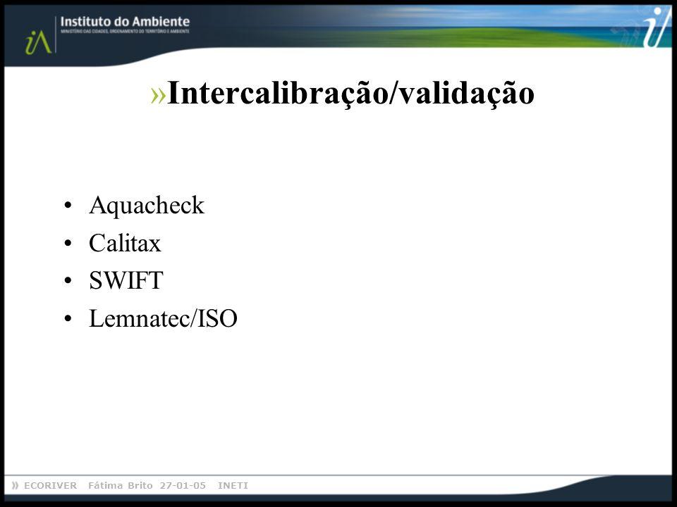 Intercalibração/validação