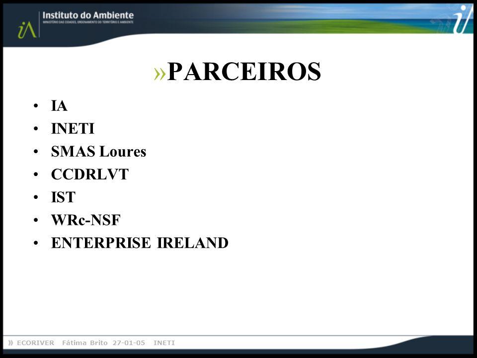 PARCEIROS IA INETI SMAS Loures CCDRLVT IST WRc-NSF ENTERPRISE IRELAND