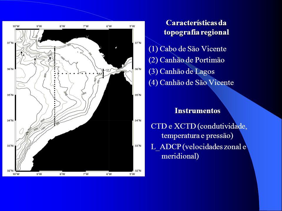Características da topografia regional