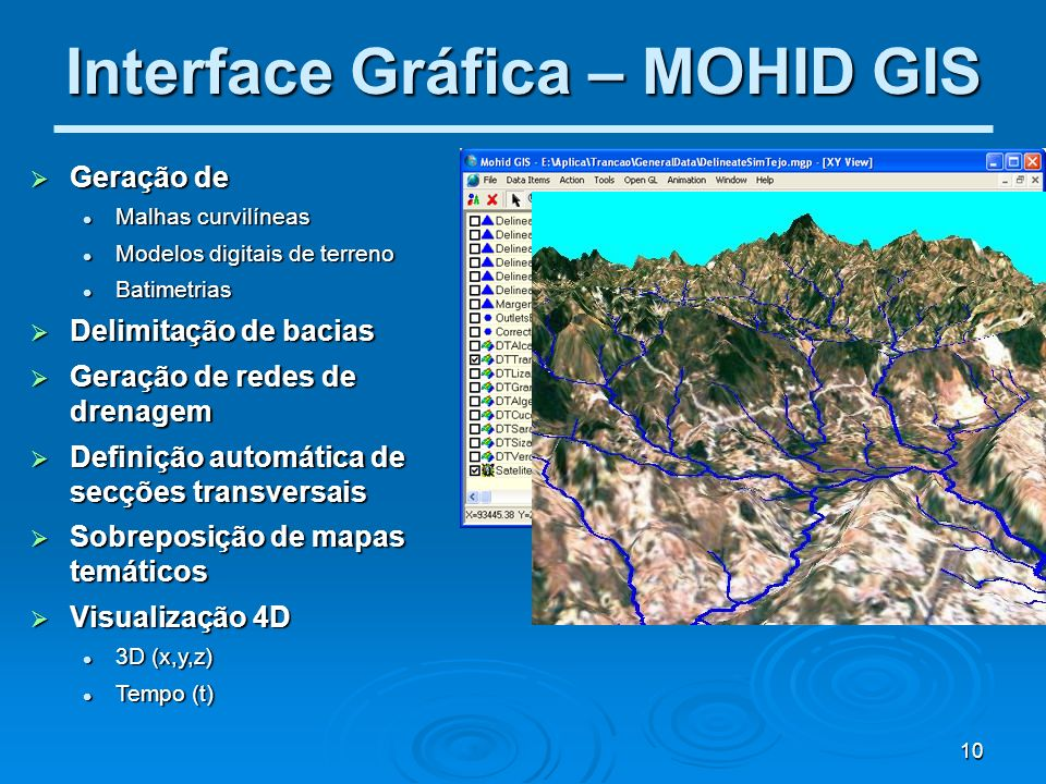 Interface Gráfica – MOHID GIS