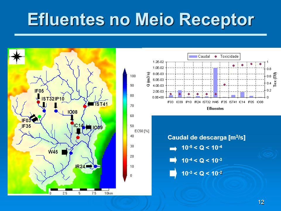 Efluentes no Meio Receptor