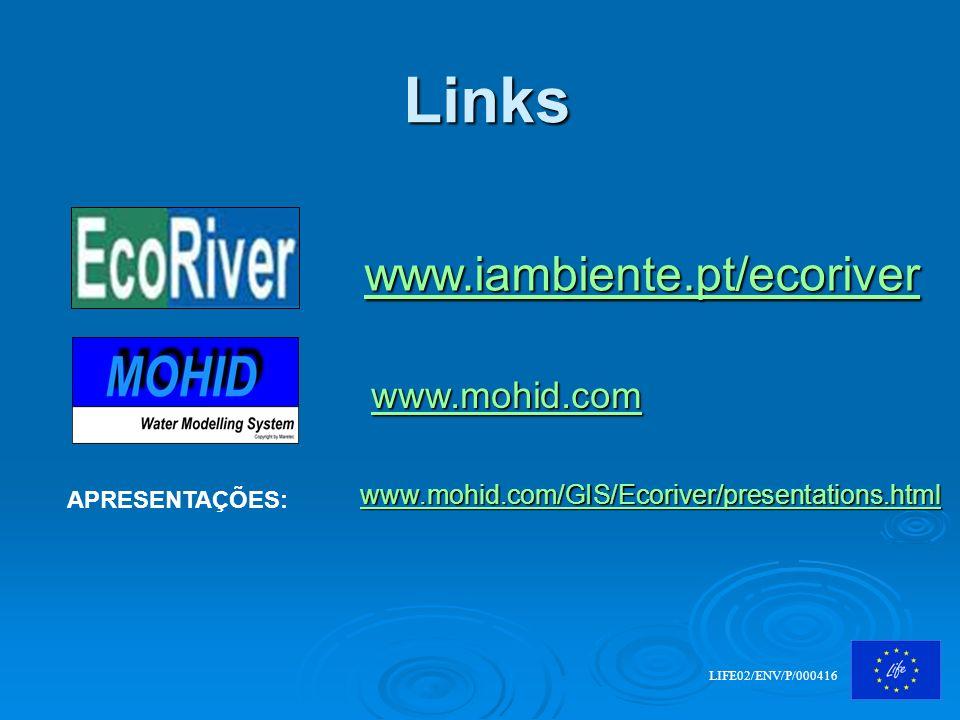 Links www.iambiente.pt/ecoriver www.mohid.com
