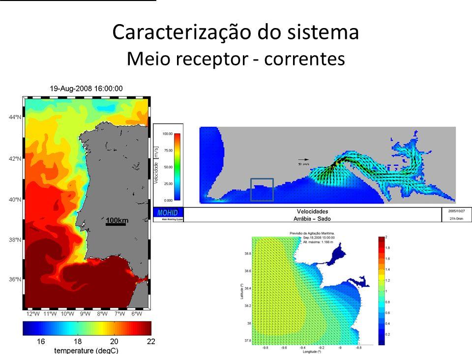 Caracterização do sistema Meio receptor - correntes