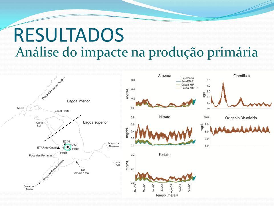 RESULTADOS Análise do impacte na produção primária