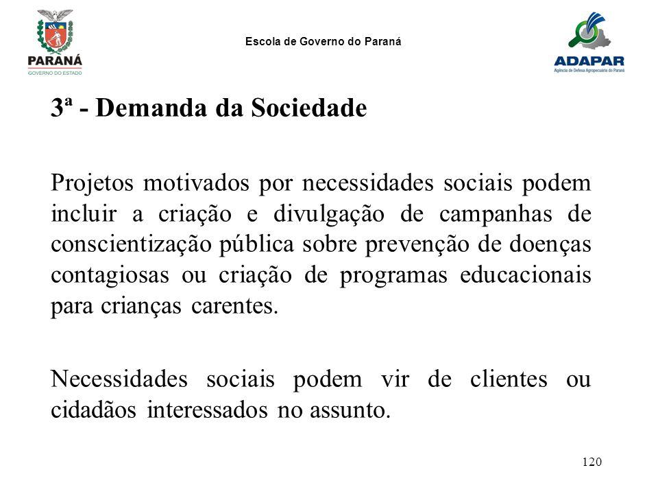 3ª - Demanda da Sociedade