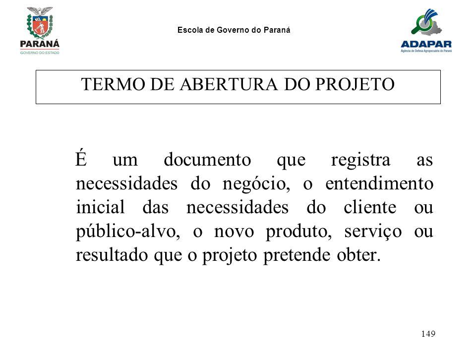 TERMO DE ABERTURA DO PROJETO