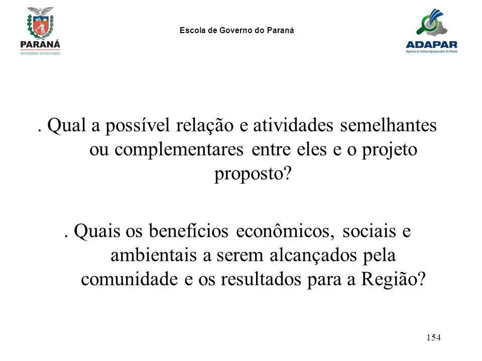 . Qual a possível relação e atividades semelhantes ou complementares entre eles e o projeto proposto